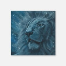 """Ghostly Lion Square Sticker 3"""" x 3"""""""