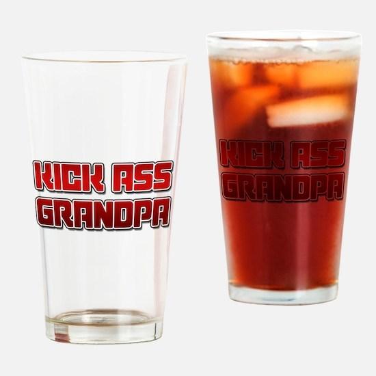 Kick Ass Grandpa Drinking Glass