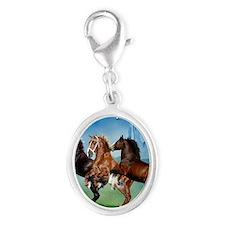 Horsephotos Silver Oval Charm
