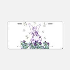 Lilac Angel Aluminum License Plate