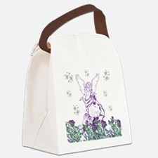 Lilac Angel Canvas Lunch Bag