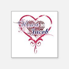 "Heart Jacob_dk Square Sticker 3"" x 3"""