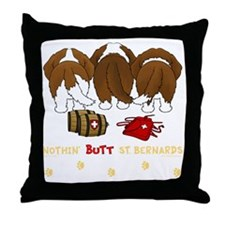 StBernardTransNew Throw Pillow