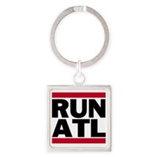 RUN ATL_light Square Keychain