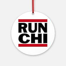 RUN CHI_light Round Ornament