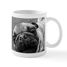 Mirrored Pug Up-close Small Mug