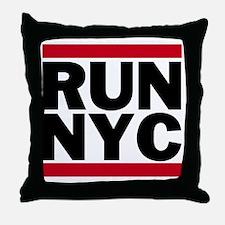 RUN NYC_light Throw Pillow