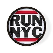 RUN NYC_light Wall Clock