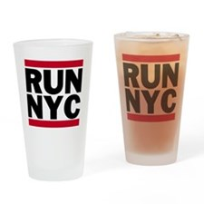 RUN NYC_light Drinking Glass