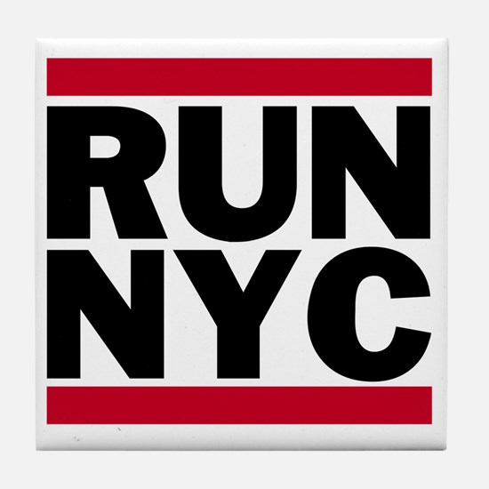 RUN NYC_light Tile Coaster