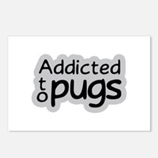 Addicted to Pugs Postcards (Package of 8)
