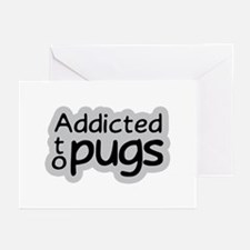 Addicted to Pugs Greeting Cards (Pk of 10)
