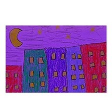Stary_Night_landscape Postcards (Package of 8)