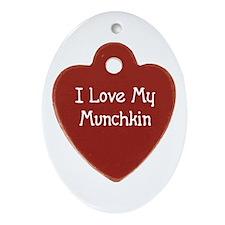 Love Munchkin Oval Ornament