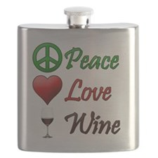 PeaceLoveWine Flask