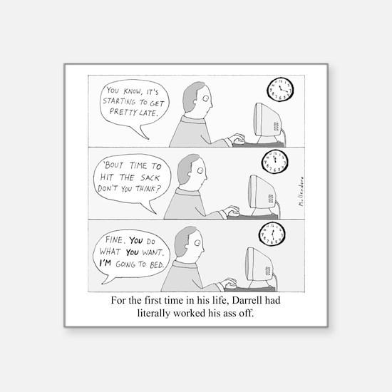 """Darrells Ass Square Sticker 3"""" x 3"""""""