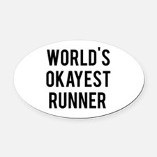 Funny Cross fit girls Oval Car Magnet