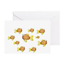 Unschool Fish-Reverse Greeting Card