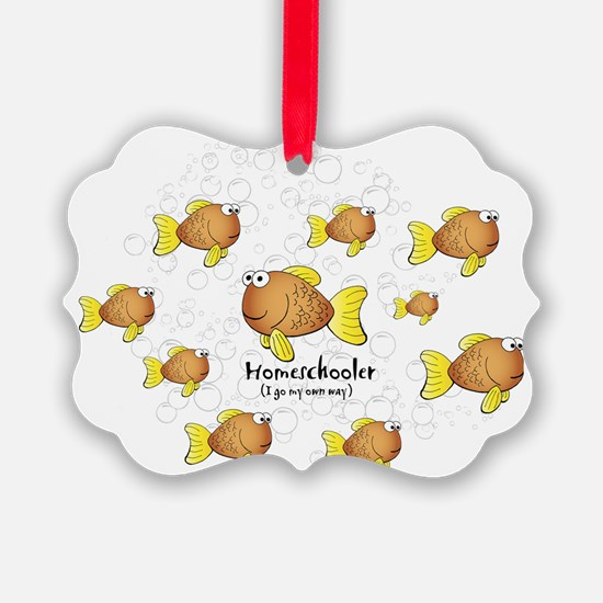 Homeschool Fish Ornament