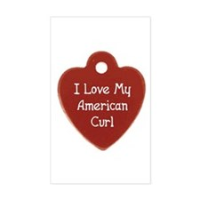 Love Curl Rectangle Decal