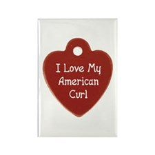 Love Curl Rectangle Magnet
