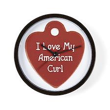 Love Curl Wall Clock