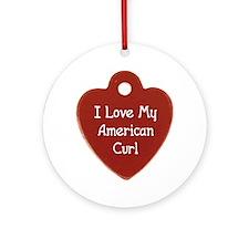 Love Curl Ornament (Round)