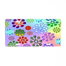 Flower Power mini wallet Aluminum License Plate