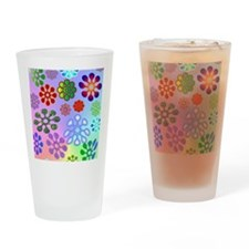 Flower Power stadium Drinking Glass
