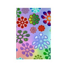 Flower Power stadium Rectangle Magnet