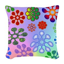 Flower Power stadium Woven Throw Pillow