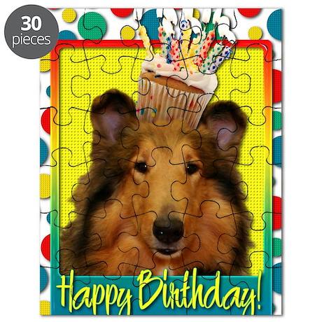BirthdayCupcakeCollieNatalie Puzzle
