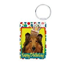BirthdayCupcakeCollieNatal Keychains
