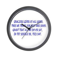 meal blessings Wall Clock