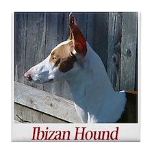 Ibizan Hound Tile Coaster