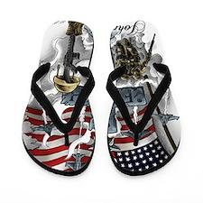 American Patriot Flip Flops