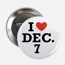 "I Heart December 7 2.25"" Button (100 pack)"