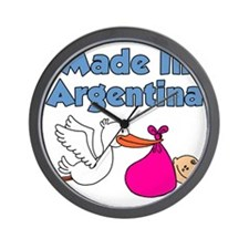 Made In Argentina Girl Wall Clock