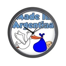 Made In Argentina Boy Wall Clock