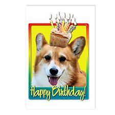 BirthdayCupcakeCorgiOwenH Postcards (Package of 8)
