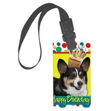 BirthdayCupcakeCorgi Luggage Tag