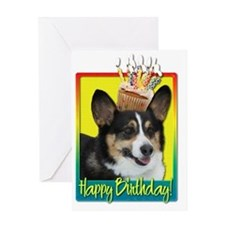 BirthdayCupcakeCorgiHB Greeting Card
