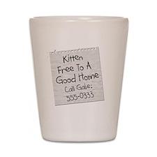 The Kitten Shot Glass