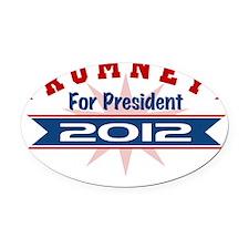 Romney Starburst 1 Oval Car Magnet