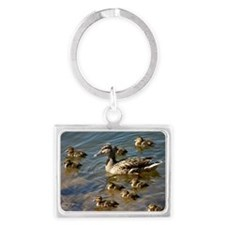 Big ducky family Landscape Keychain