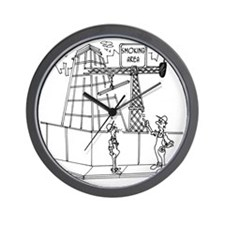 6674_smoking_cartoon Wall Clock