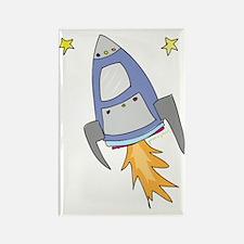 rocket Rectangle Magnet
