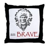 American indian geronimo Throw Pillows
