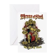 THRONE STEEL front Greeting Card
