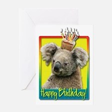 BirthdayCupcakeKoalaHB Greeting Card